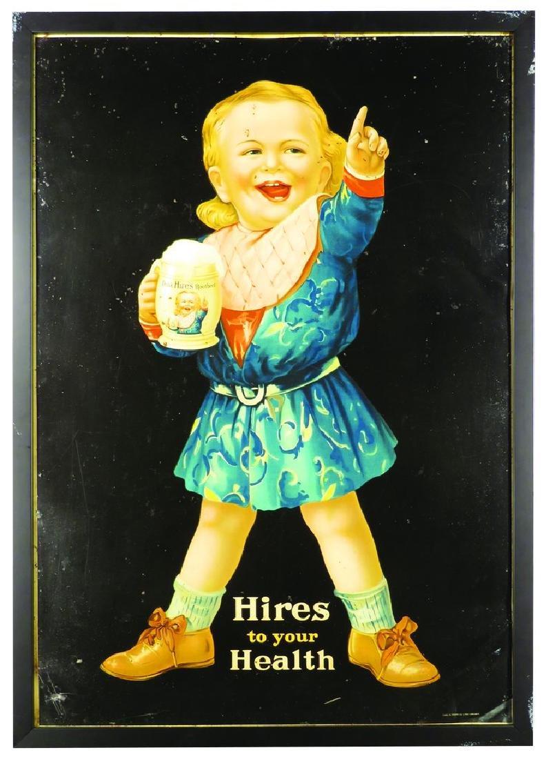 Hires Root Beer Boy Tin Sign