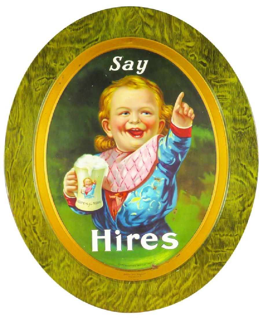 1907 Hires Root Beer Self Framed Tin Sign