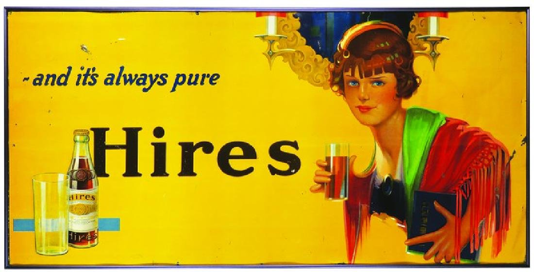 Hires Root Beer Embossed Tin Sign