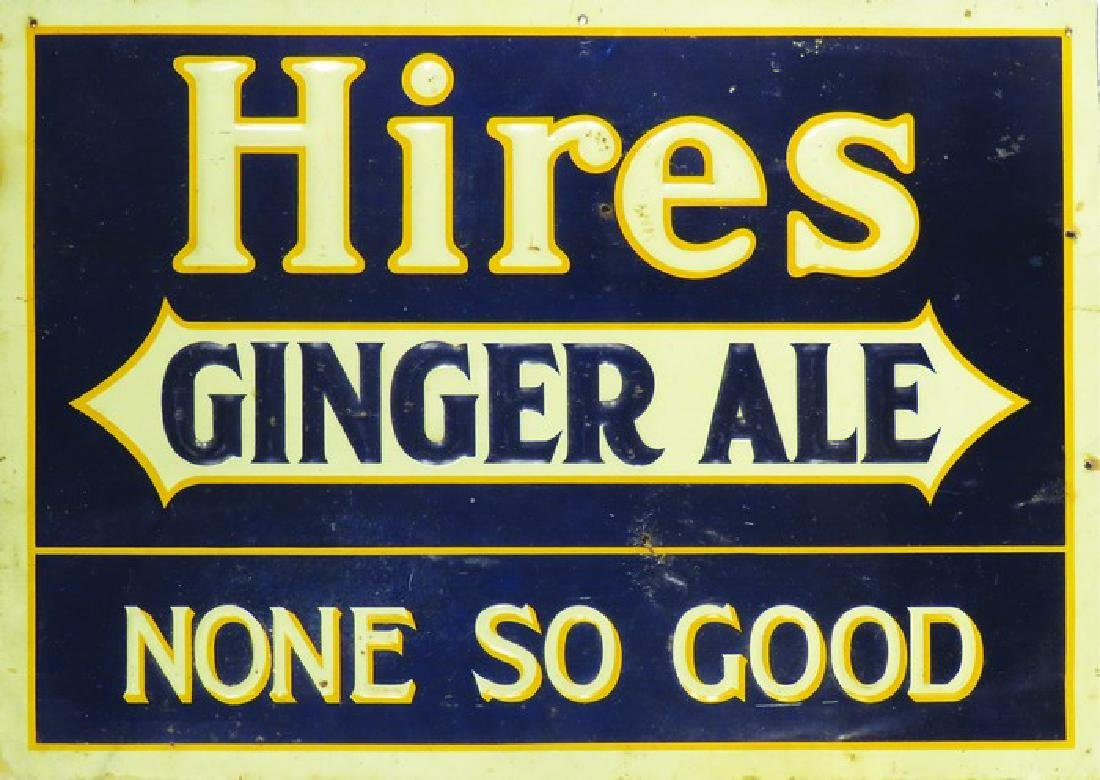 Hires Ginger Ale Embossed Tin Sign