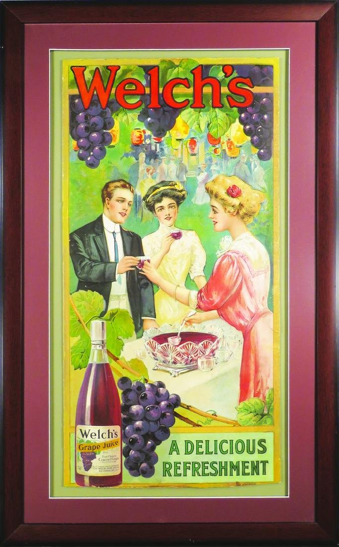 Welch's Grape Juice Paper Sign