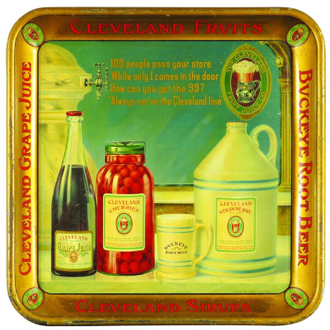 The Cleveland Fruits and Juice Co. Tin Serving Tray