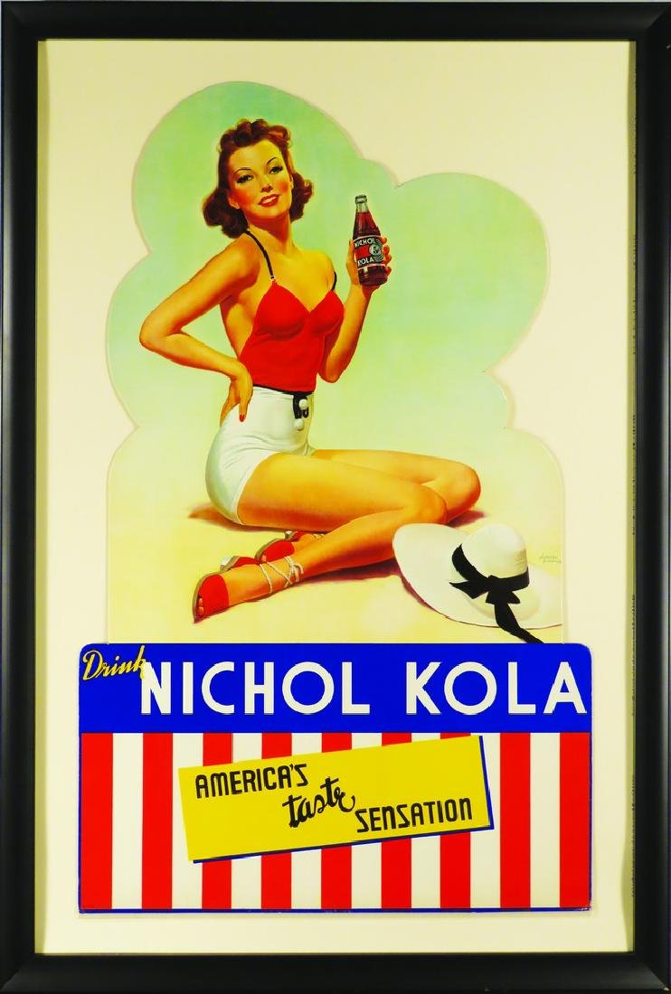 Nichol Kola Soda Die Cut Cardboard Sign