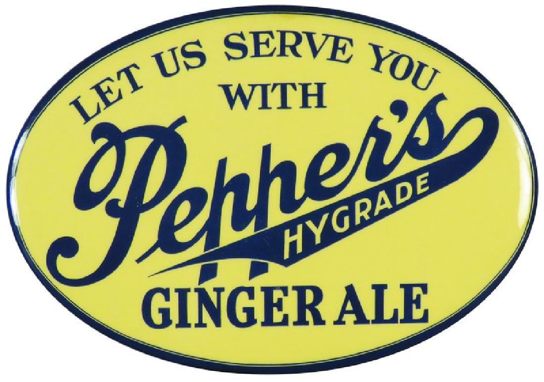 Pepper's Hygrade Celluloid Over Cardboard Sign