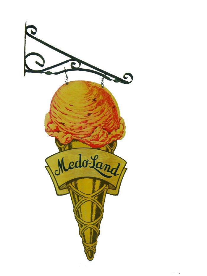 Meado-Land Ice Cream Cone Sign