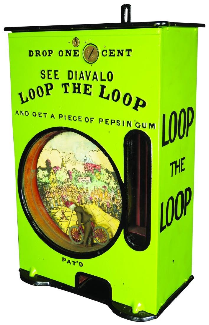 Rare One Cent Loop the Loop Chewing Gum Vendor
