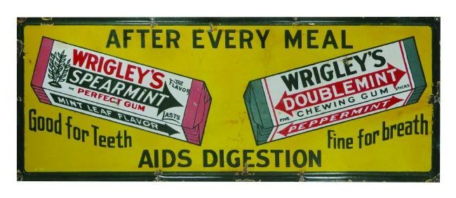 Wrigley's Spearmint - Doublemint Gum Sign