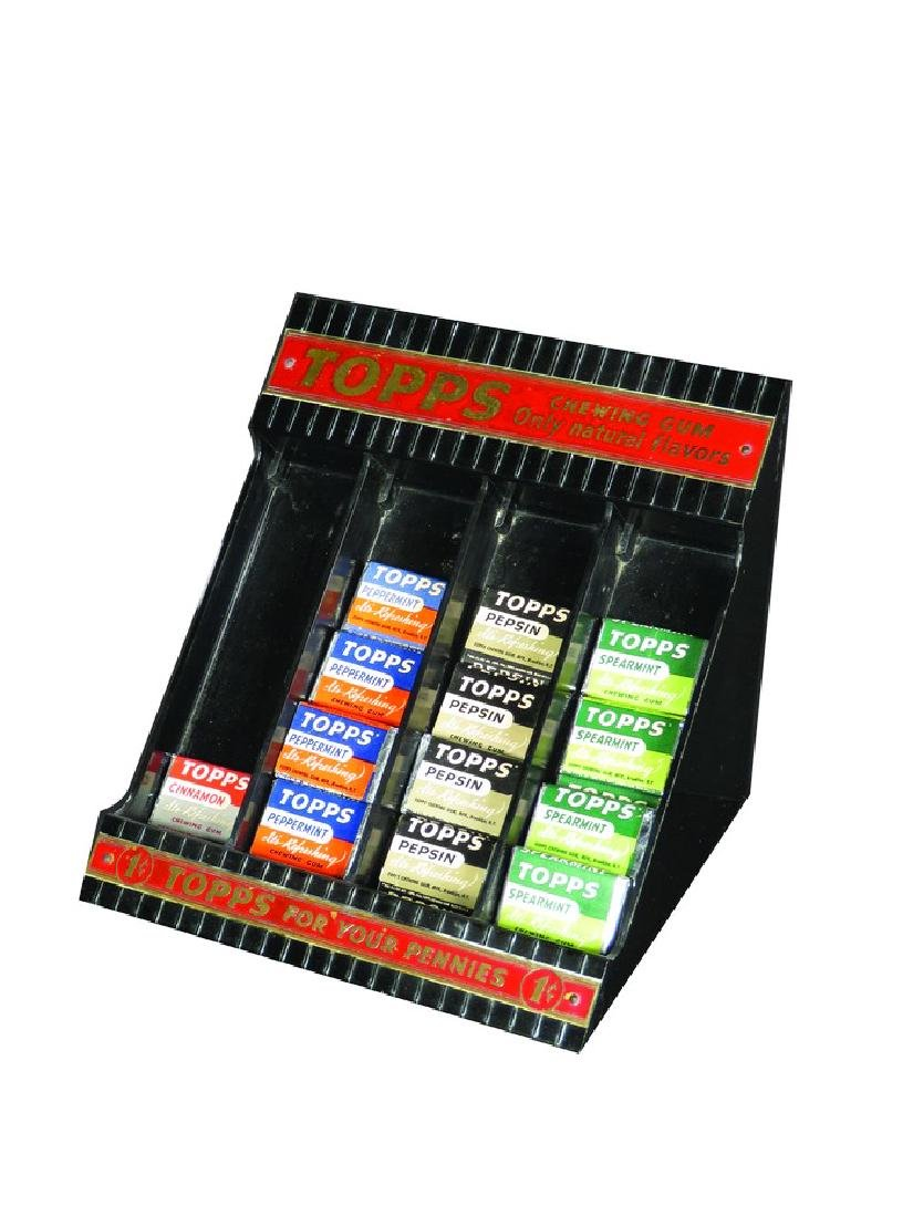 Topps Chewing Gum Plastic Store Display