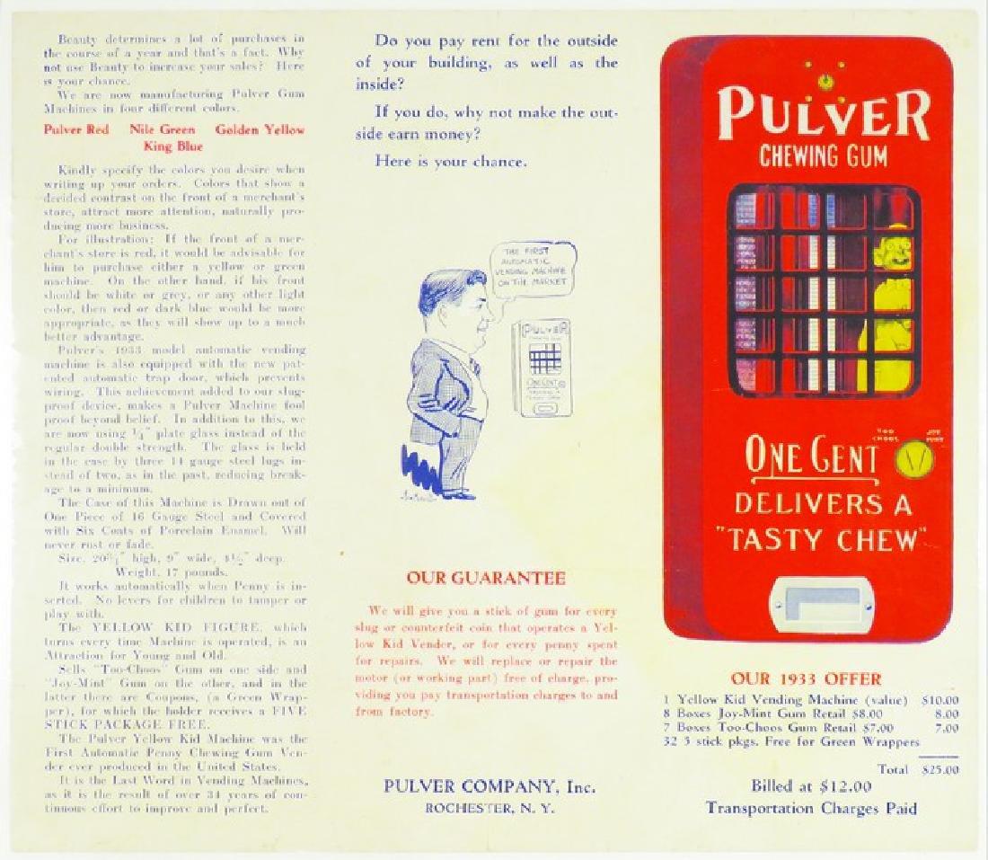 Pulver Chewing Gum Pamphlet
