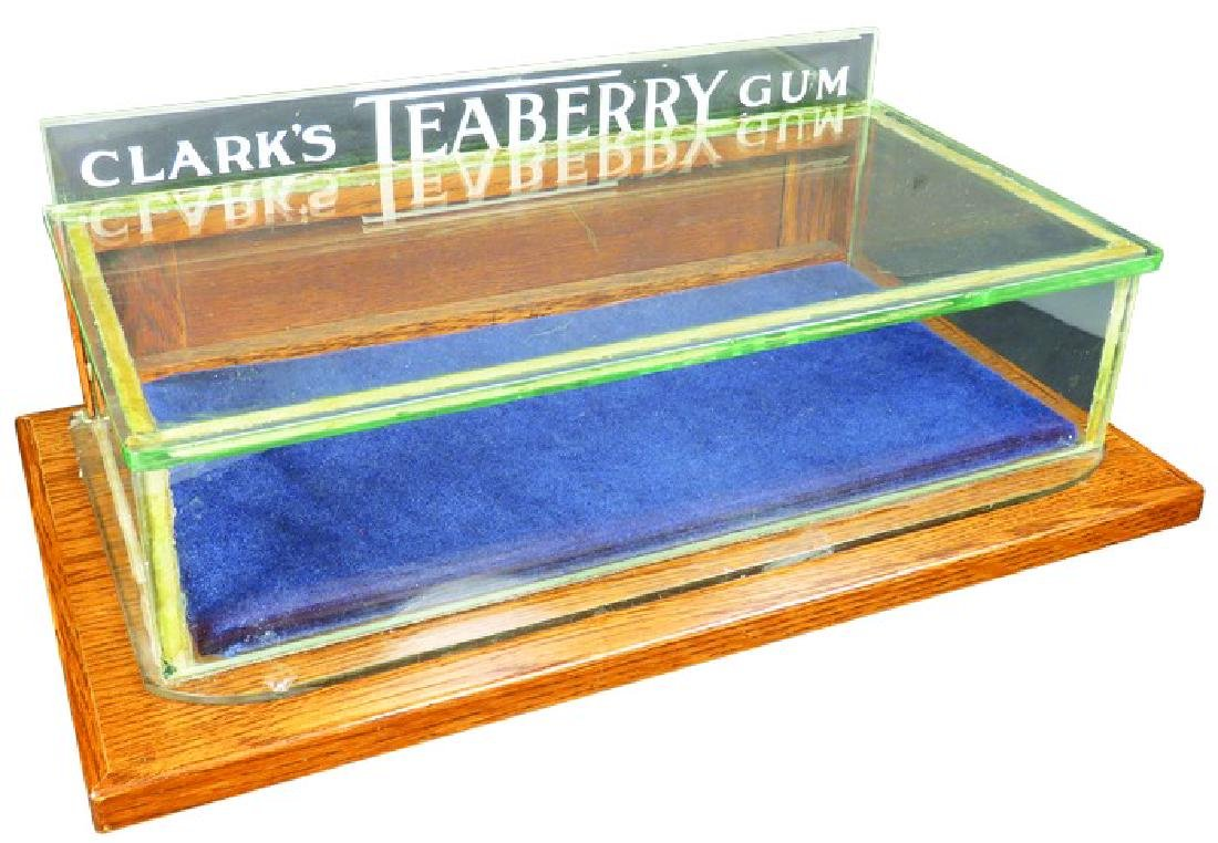 Clark's Teaberry Gum Etched Glass Display Case