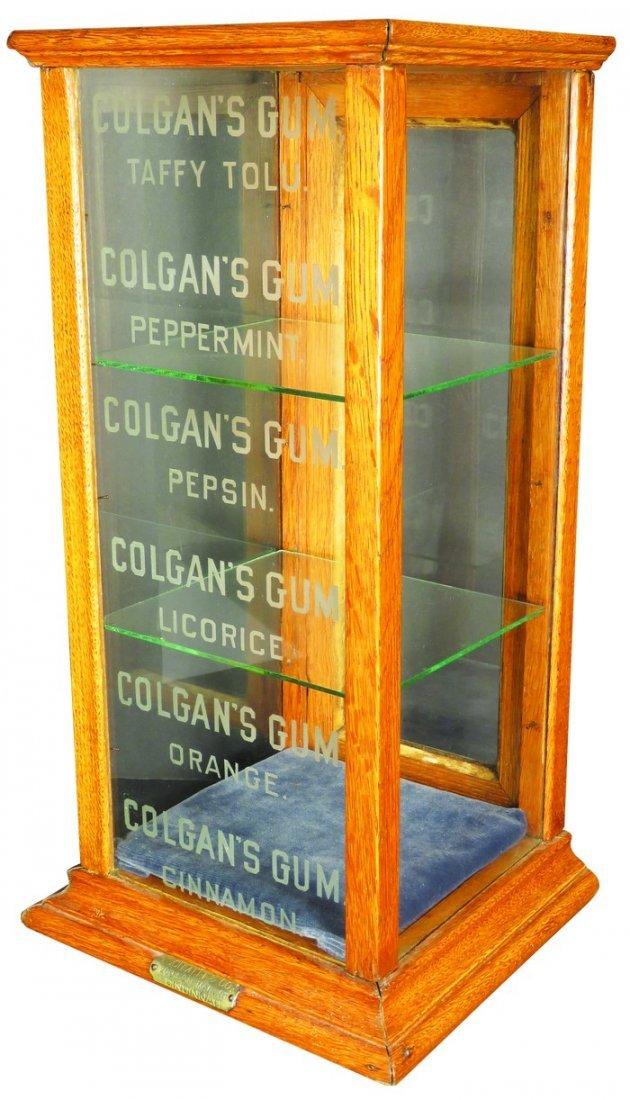Colgan's Gum Oak Store Display Case