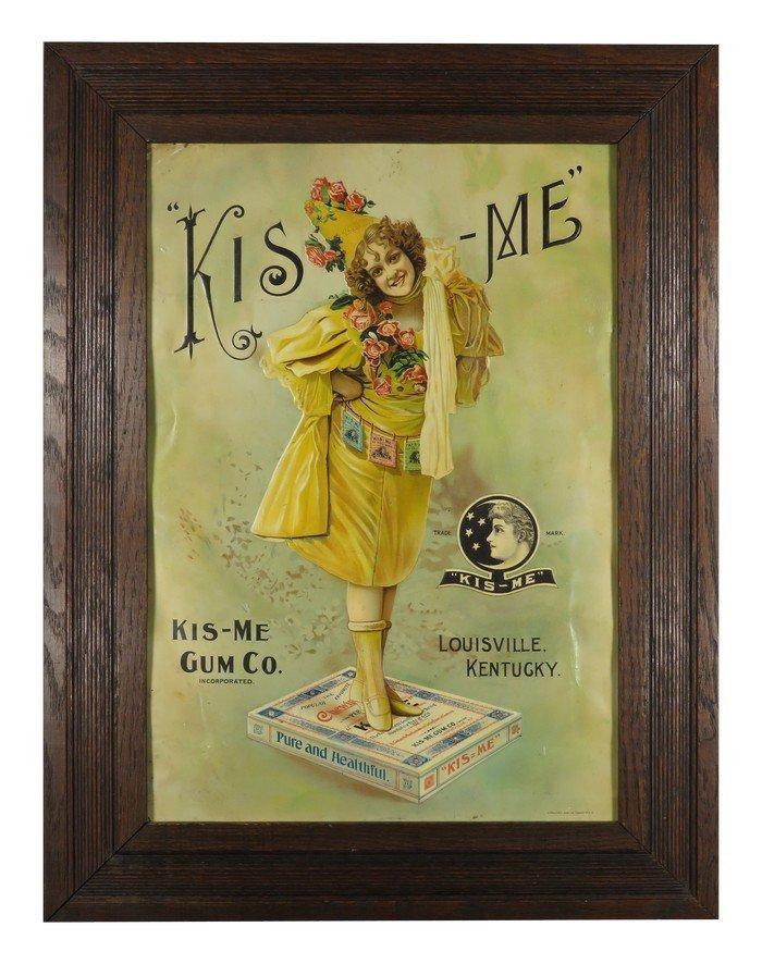 Kis-Me Gum Embossed Tin Sign