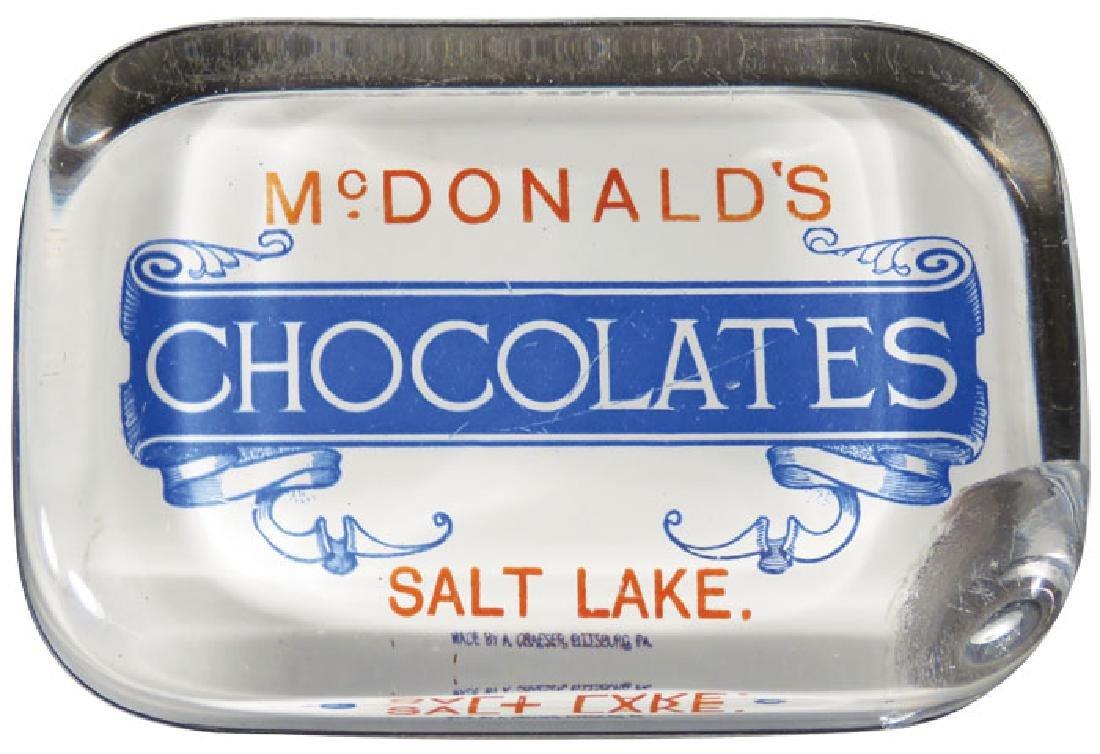 McDonald's Chocolates Advertising Paperweight