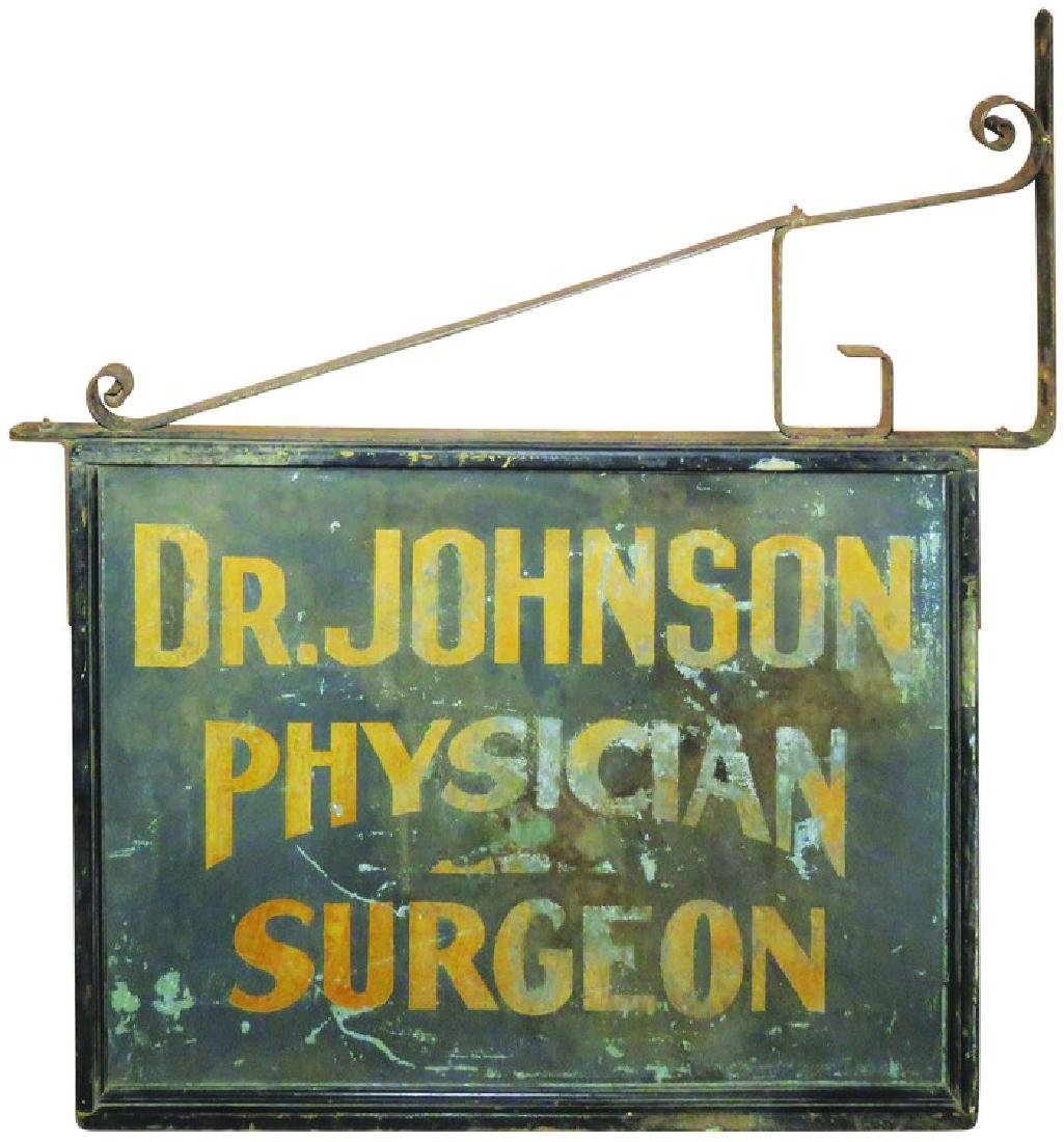 Dr. Johnson Physician, Surgeon. Outdoor wood sign