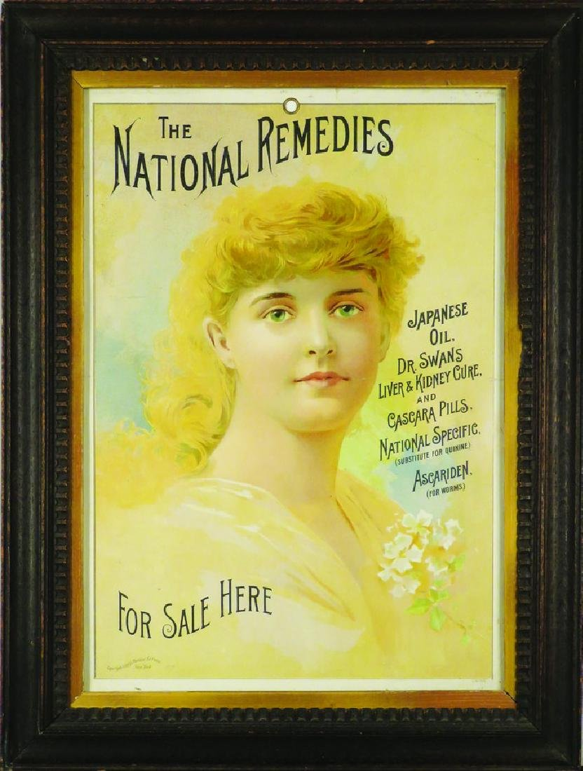The National Remedies String Hanging Sign