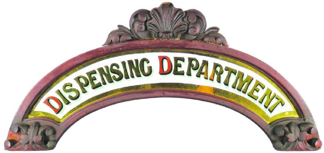 Dispensing Department Reverse Glass Marquee