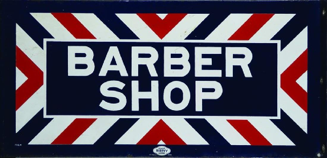 Porcelain Barber Shop Flange Sign