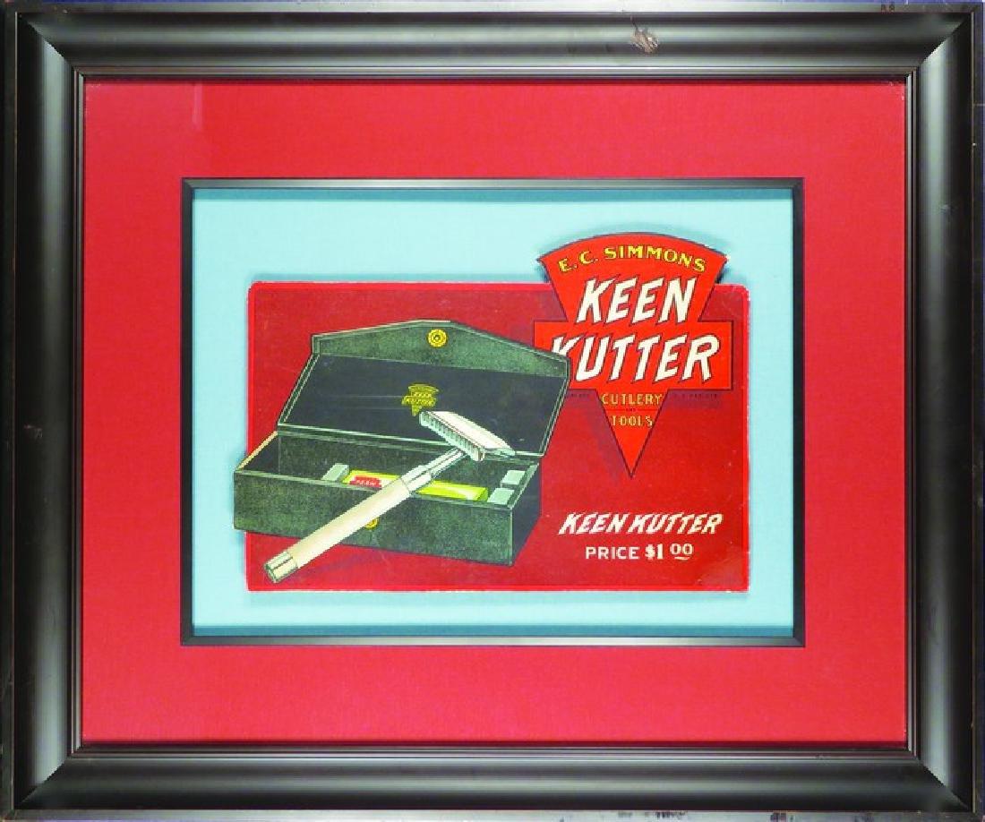 Keen Kutter Die Cut Cardboard Safety Razor Sign