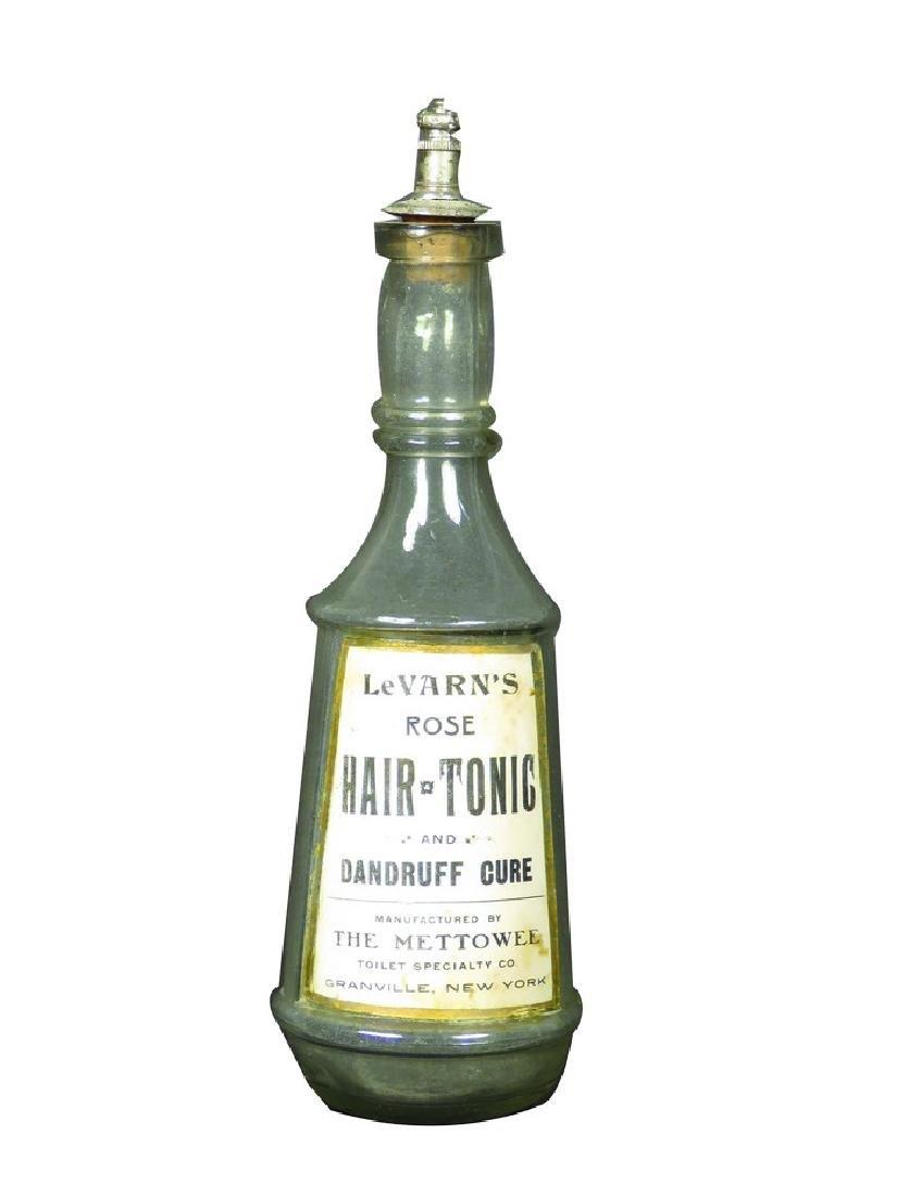 LeVarn's Rose Hair Tonic Label Under Glass Bottle