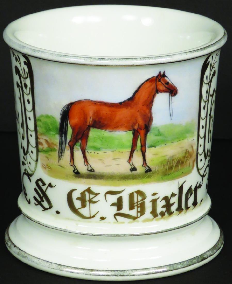 Shaving Mug Standing Horse S. C. Dixler