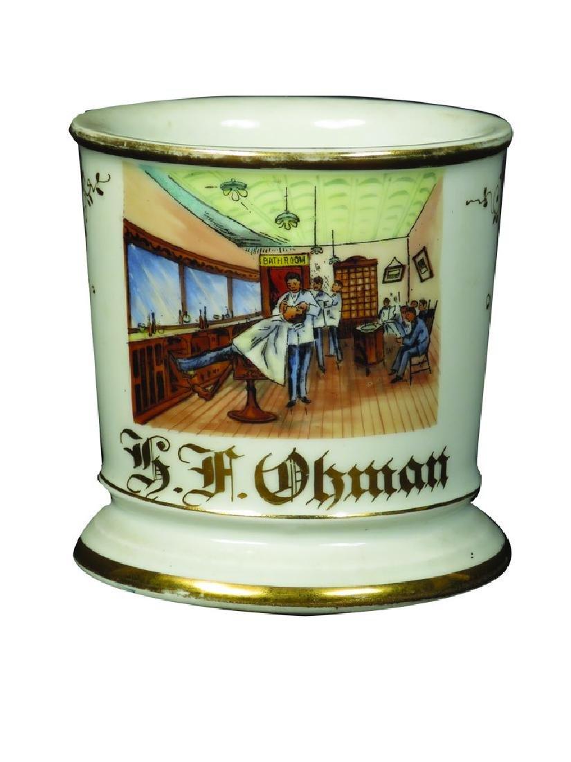 Occupational Shaving Mug for Barber G.F. Obman