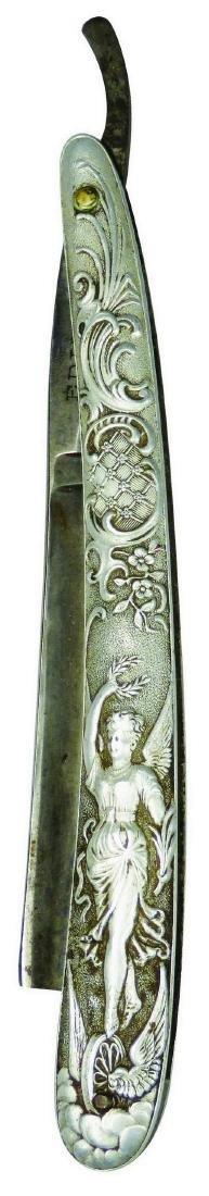 Heckel Bros. Antique Aluminum Straight Razor