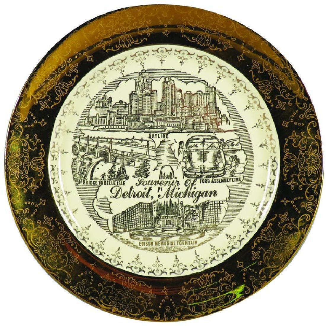 Detroit Michigan souvenir plate