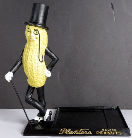 Planters Peanut Cast Iron Counter Top Display