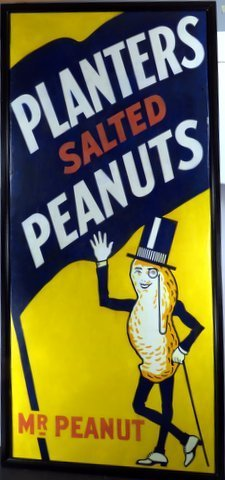 Very Rare Planters Peanut Porcelain Sign