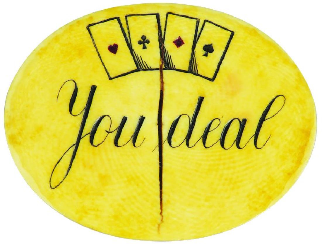 Oval Antique Poker Gambling Buck