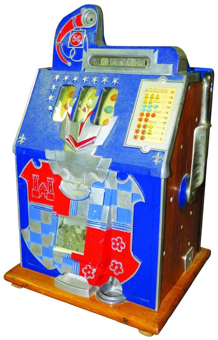Mill's 5 Cent Castle Front 3 Reel Slot Machine