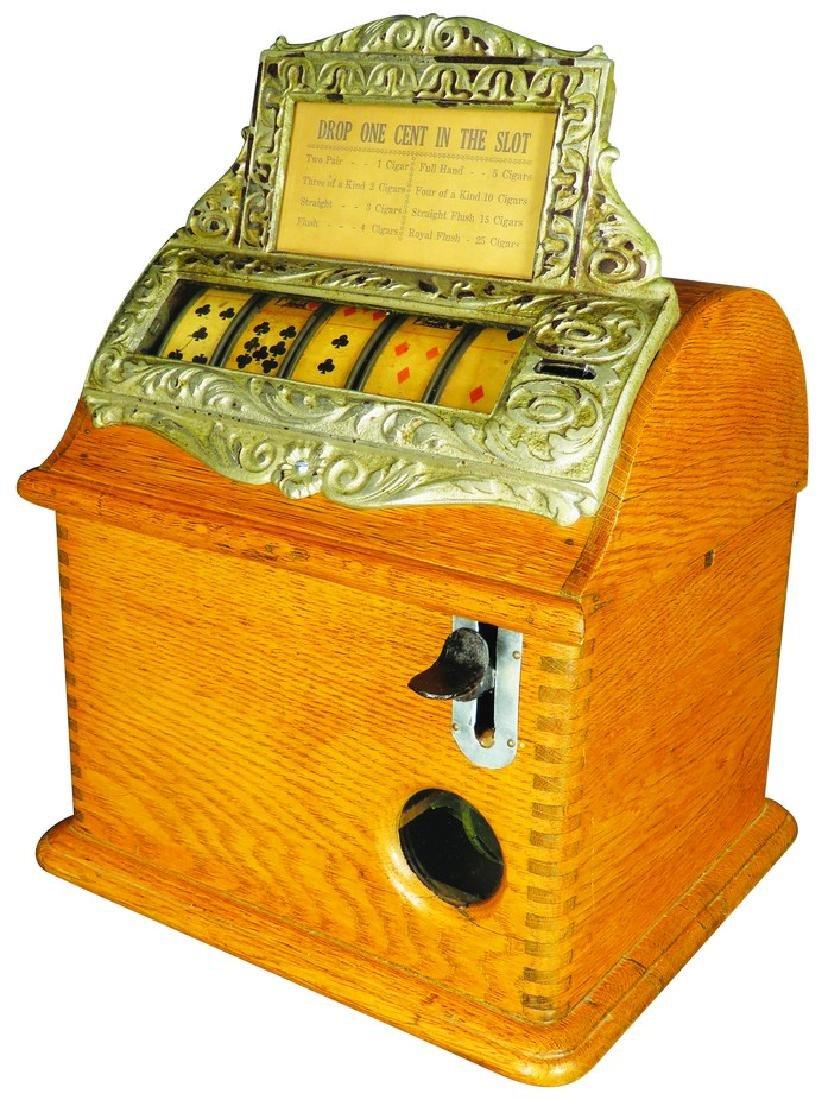 Oak Five Reel Card Suit Trade Stimulator