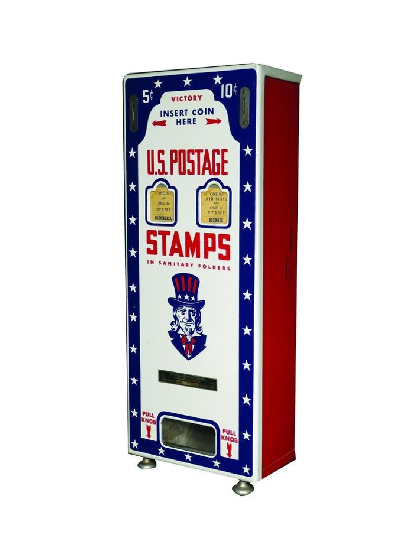Uncle Sam Porcelain Postage Vending Machine