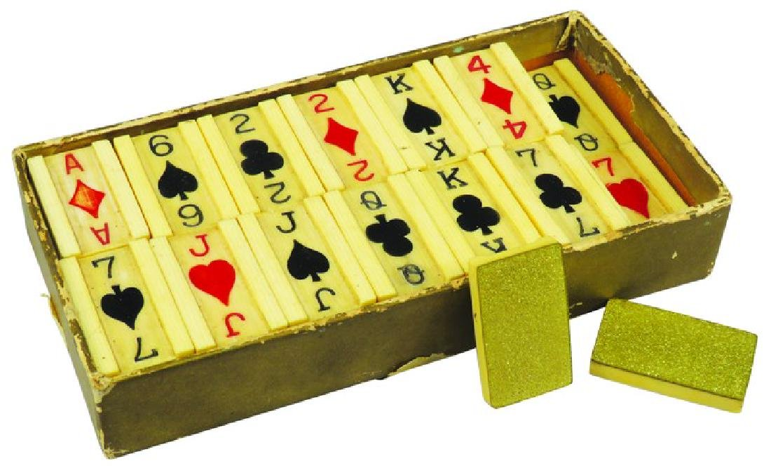 Box of Vintage Pitch Card Dominoes