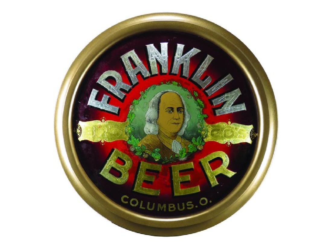 Franklin Beer Convex Reverse Glass Sign