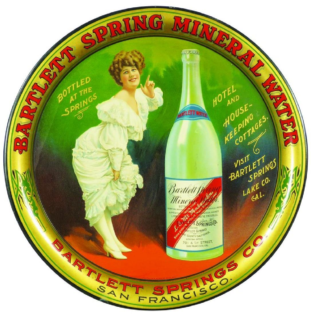 Bartlett Springs Mineral Water Tin Serving Tray