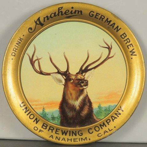 Anaheim German Brewing Company Tin Tip Tray