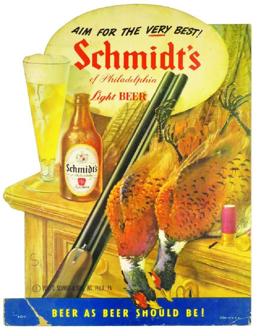 Schmidt's Light Beer of Philadelphia Die Cut Sign