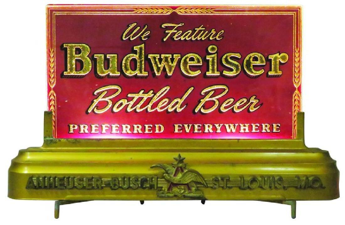 Budweiser Beer Reverse Glass Light Up Sign
