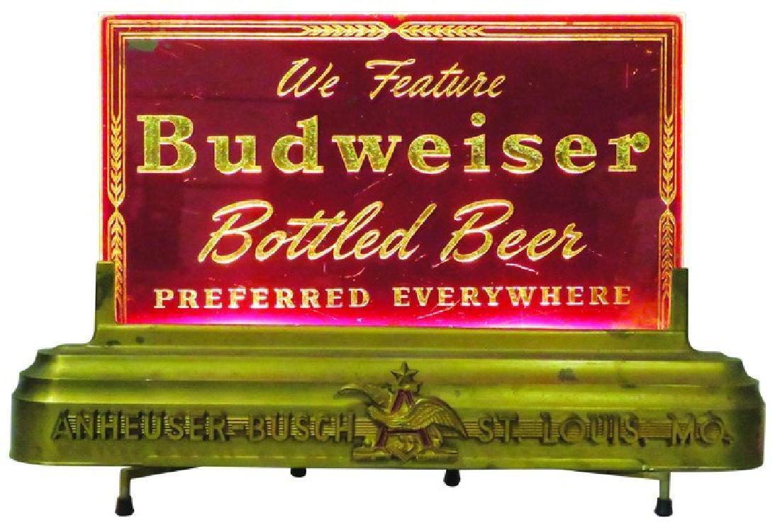 Budweiser Beer Revers Glass Light Up Sign