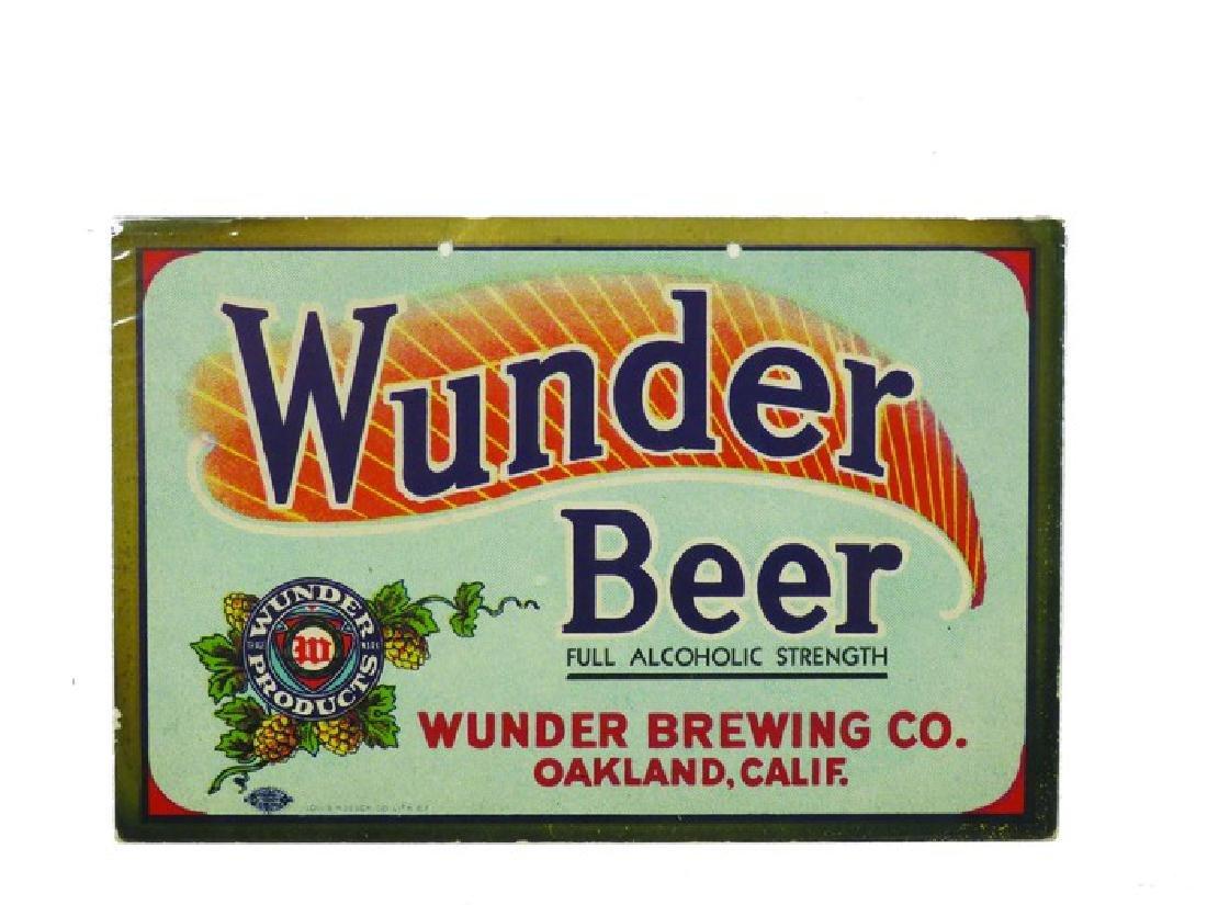 Wunder Beer Cardboard String Hanging Sign