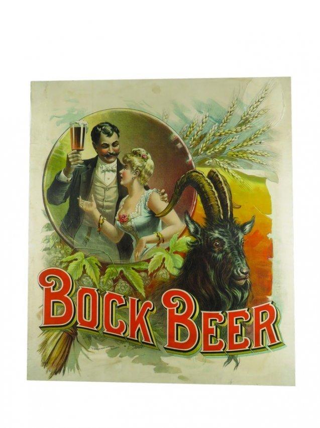 Bock Beer Paper Sign