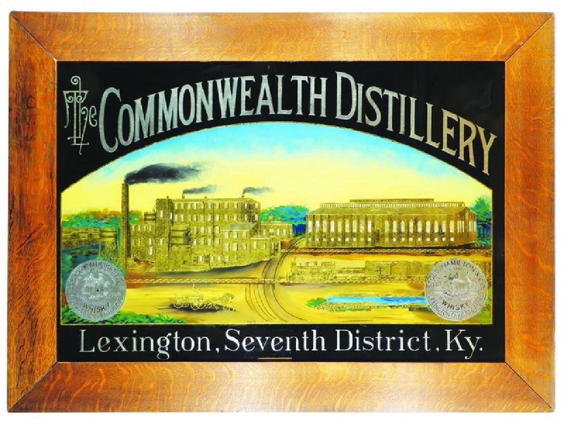 The Commonwealth Distillery Reverse Glass Sign