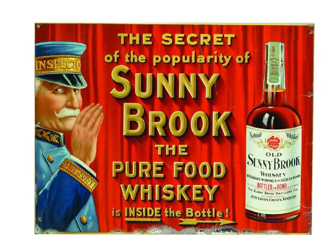 Old Sunny Brook Whiskey Tin Sign
