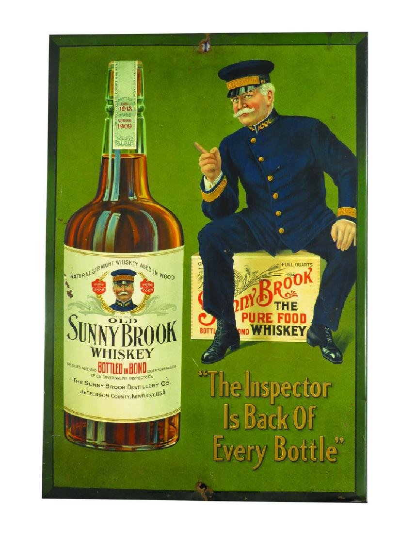Old Sunny Brook Whiskey Tin Over Sign