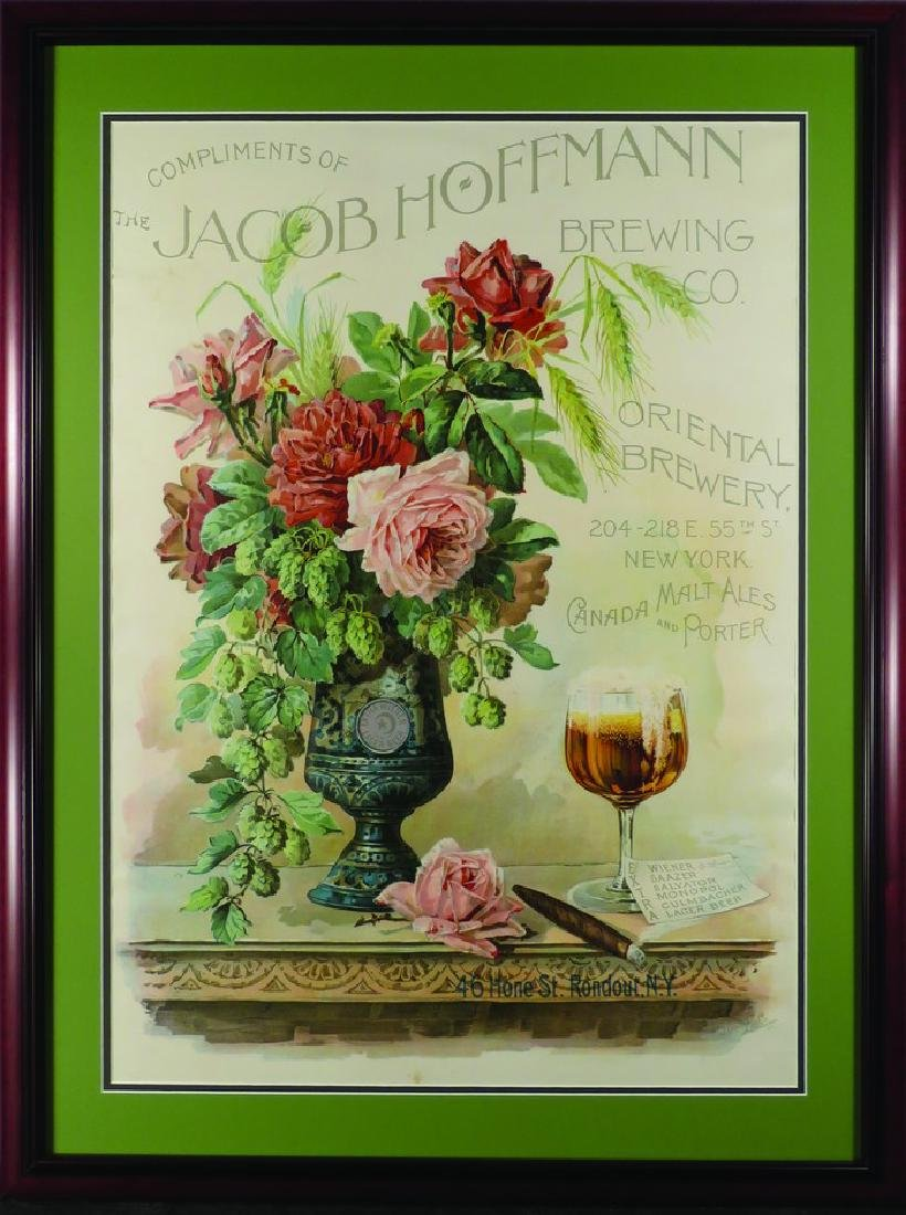 Jacob Hoffman Brewing Company Paper Sign