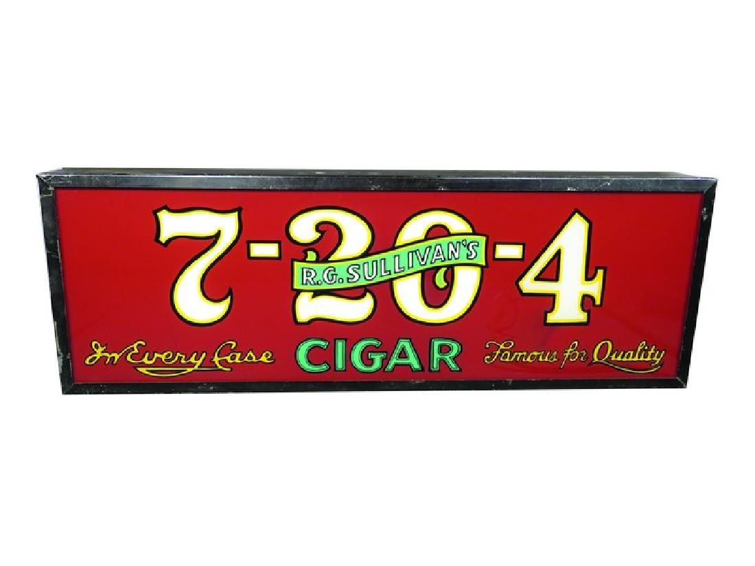 R.G. Sullivan's 7-20-4 Cigars Light Up Sign