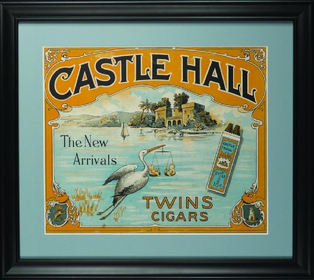 Castle Hall Twin Cigars Cardboard Sign