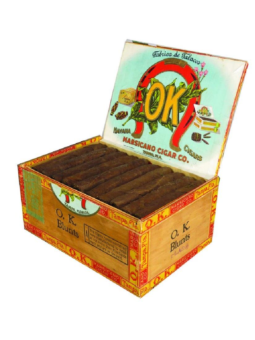 "Marsicano Cigar ""O.K."" Blunts Full Cigar Box"
