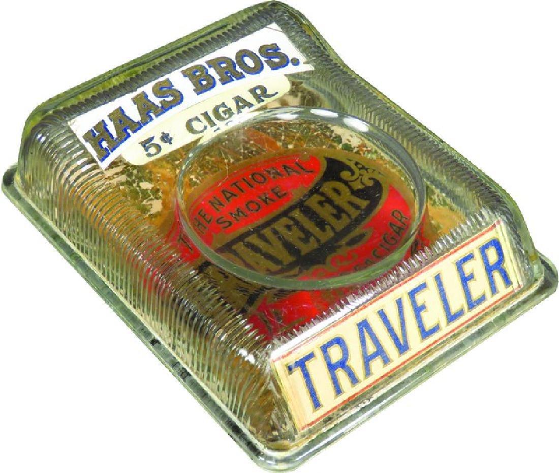 Haas Bros. Traveler Cigars Glass Change Tray